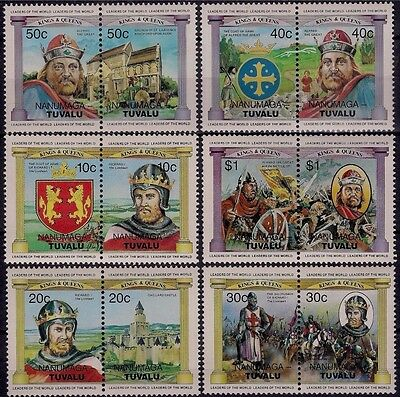 Tuvalu 1984 British monarchy Royalty Kings & Queens Arms Battles Arms 12v MNH