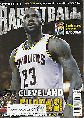 Beckett Basketball Card Monthly Price Guide Aug 2016 Lebron Champ Cover