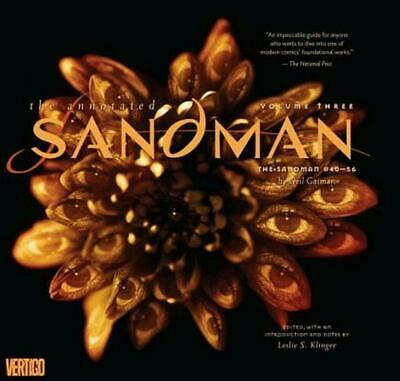 Annotated Sandman Vol. 3 by Neil Gaiman (English) Hardcover Book Free Shipping!