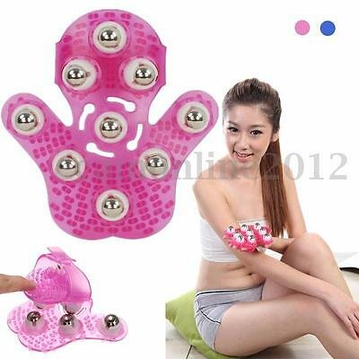 360° Rotation Roller Massager Glove Body Cellulite Massage Relax Stress Relief