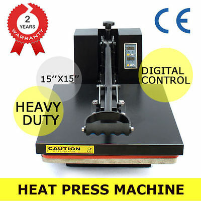 "Heat Transfer Machine CLAMSHELL Digital Heat Press T-Shirt Sublimation 15"" x 15"""