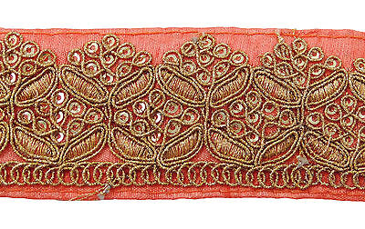 Metallic Embroidered Crafting Trim 4 Cm Wide Sewing Supply Fabric Lace By 1 Yard
