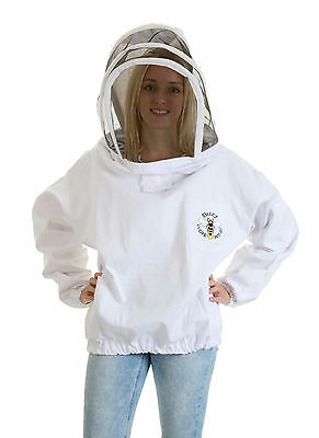 [UK] Buzz Work Wear Beekeeping White Pullover Fencing Veil Tunic - SELECT SIZE