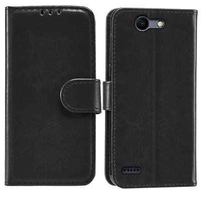 PU Leather Black Book Wallet Flip Stand Case Cover For Samsung Galaxy Xcover 3
