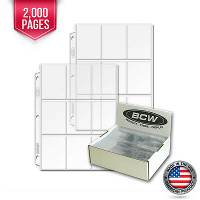 2000 New BCW Heavy Vinyl 9 Pocket Trading Card Album Pages #1 binder sheets