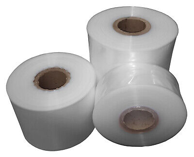 250 Gauge Polythene Layflat Poly Tubing Heat Seal Bags 13 Roll Sizes Qty 1 Roll
