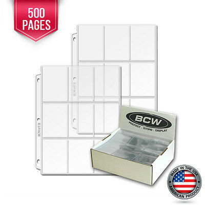 500 New BCW Heavy Vinyl 9 Pocket Trading Card Album Pages #2 binder sheets