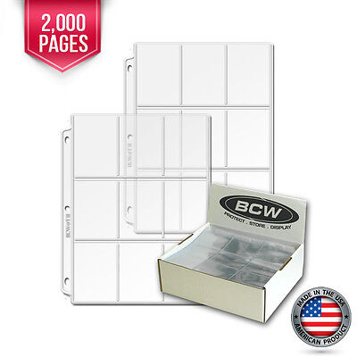 2000 New BCW Heavy Vinyl 9 Pocket Trading Card Album Pages #2 binder sheets