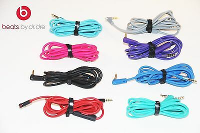 Original Audio Cable 3.5mm/ L Cord/ BEATS by Dr Dre Headphones AUX & MIC COLORS