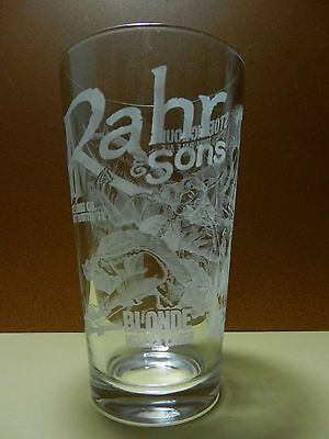 Rahr & Sons Brewing Company Etched Pint Beer Glass Fort Worth TX Craft Brewery