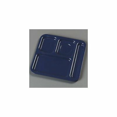 Carlisle Food Service Products Right Hand 4-Compartment Tray Dark Blue Set of 48