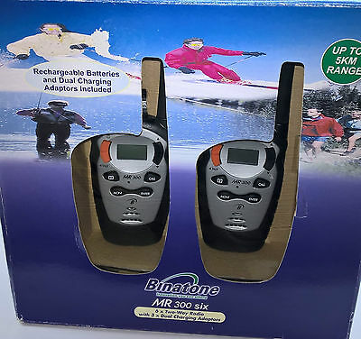 6 x Binatone 2 Two Way Radio Walkie Talkie 5 KM 3 Miles Intercom #MR300 Value