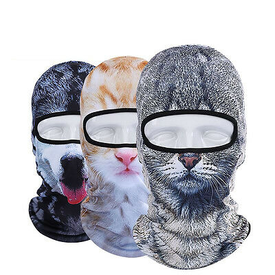 Cute 3D Animal Thin Outdoor Cycling Ski Balaclava Hat Motorcycle Full Face Mask