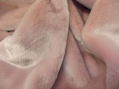 Super Luxury Faux Fur Fabric Material - SHORT PLUSH POWDER PINK