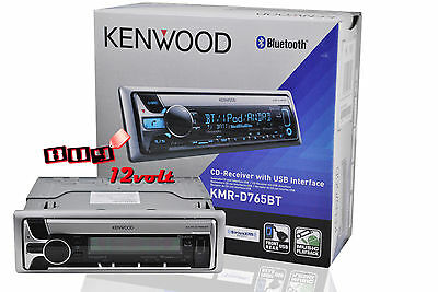 KENWOOD KMR-D765BT MARINE STEREO CD W/ USB PANDORA SiriusXM-Ready BLUETOOTH