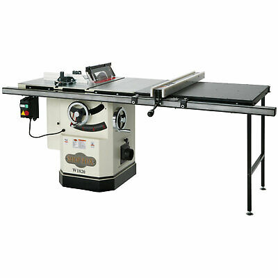 Shop Fox W1820 10-Inch Cabinet Saw w. Riving Knife Long Rails & Extension Table