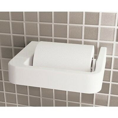 White Wall Hung Toilet Paper Holder 2224-02
