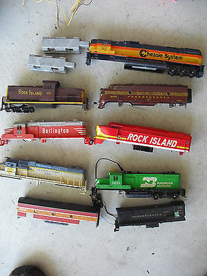 BIG Lot of Vintage HO Scale Locomotive Shells and Some Parts LOOK