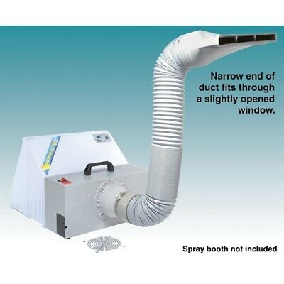 Spray Booth Extension Hose exhaust Kit - for suit-case style booth