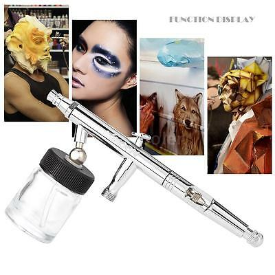 Pro Siphon Feed Dual-Action 0.5mm Airbrush Kit For Model Tattoos Nail Arts S1L3