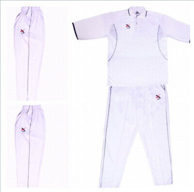 new men white cricket shirt tops  & trouser bottom cricket clothing