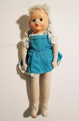 Antique Composition Head Doll Cloth Body German Old Play Doll Antique Rare