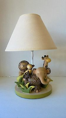 Lambs and Ivy Baby Cocoa Safari Lamp Elephant Monkey Lion Giraffe
