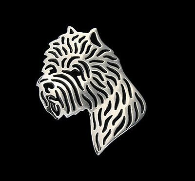 West Highland Terrier Brooch or Pin -Fashion Jewellery Silver Plated, Stud Back