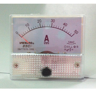 1Pcs DC 50A Analog Panel AMP Current Meter Ammeter Gauge 85C1 DC 1-50A