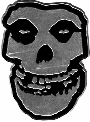 Misfits black/silver small METALLIC sticker 50mm x 40mm (cv)