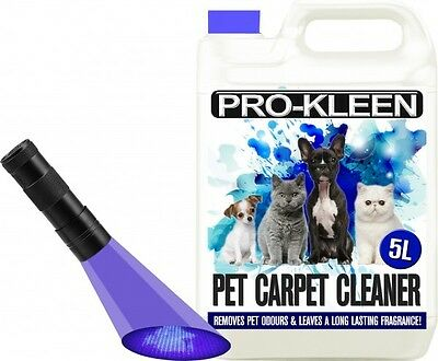 Pet Odour Carpet Cleaning Shampoo Solution Stain Remover Dry Urine Uv Torch