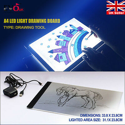 A4 LED Art Craft Design Tracing Photo Drawing Tattoo Light Box Pad Table Lamp