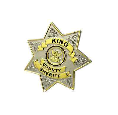 The Walking Dead King County Sheriff Uniform metal prop BADGE Rick Grimes - new!