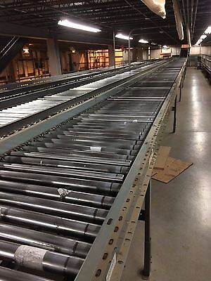 "28"" Buschman Power Accumulation Roller Conveyor 12' Long, 36"" Zones, Many Avail!"