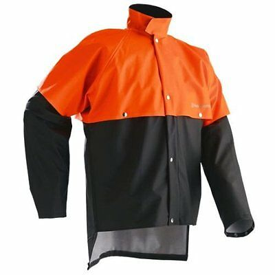 Husqvarna High Quality Rain Jacket High Visibility Orange - All Sizes