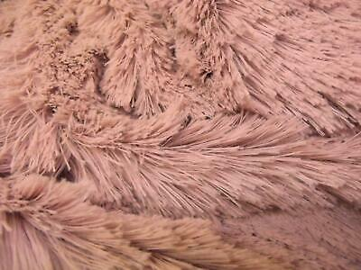 Super Luxury Faux Fur Fabric Material - PINK FRILLS
