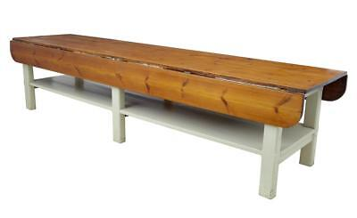 Massive Early 20Th Century Pine Drop Leaf Table
