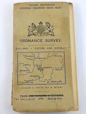 Original WWI 1912 TRENCH MAP Oxford & District Ordnance Survey - 1 : 1000 scale