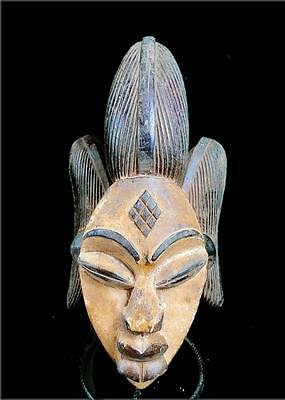 Old Tribal Punu Maiden Spirit Helmet  Mask  -- Gabon  BN 12