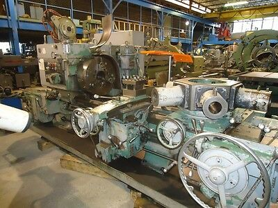 "3A WARNER & SWASEY Saddle Type Turret Lathe Cross Sliding Turret 1983 6"" Hole"