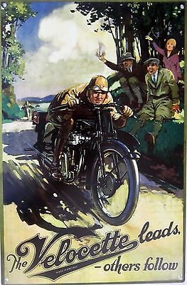 The Velocette Motorcycle Advertising Metal Sign