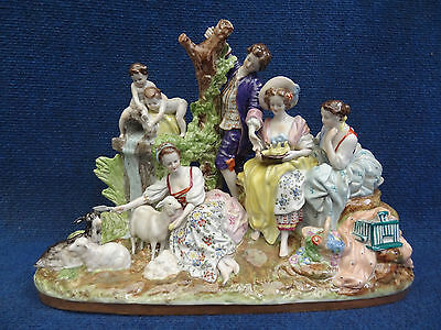 Porcelain group Pastoral scene German Scheibe Alsbach early 20th century