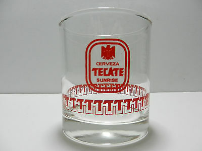 Cerveza Tecate Sunrise Mexican Beer Glass