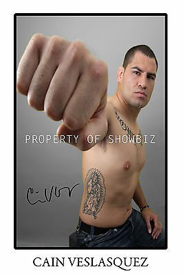 * Cain Velasquez, Large Signed Autograph Photo, Looks Great On The Wall!!!!!