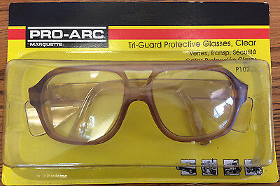 Tri-Guard Protective Safety Glasses With Side Shield Clear New
