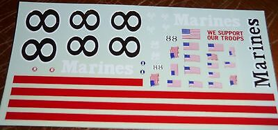 JnJ NASCAR DECALS #88 MARINES