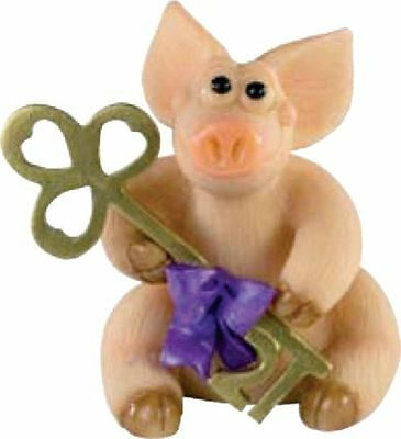 Piggin / Pig Collectors Figurine - 21 Today # 19433 Holding Birthday Key