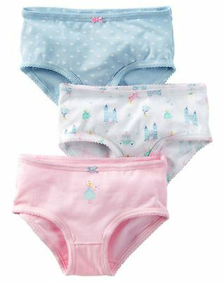 New Carter's 3 Pack Underwear Girls Panties NWT 2T 3T 4T 5T 6 6X 8 Year Princess