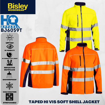 Bisley Safetywear Jackets Taped Hi Vis Softshell Jacket Bj6059T