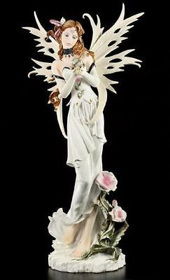 Big white Fairies Figurine - Guinevere - Elf Flowers Decoration